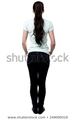 atrás · plantean · pared · jóvenes - foto stock © stockyimages