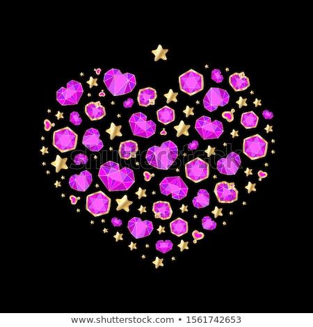 Foto stock: Muitos · pequeno · rubi · diamante · pedras · luxo