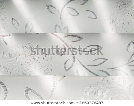 kurtyny · czerwony · niebieski · kolory · okno · wnętrza - zdjęcia stock © lianem