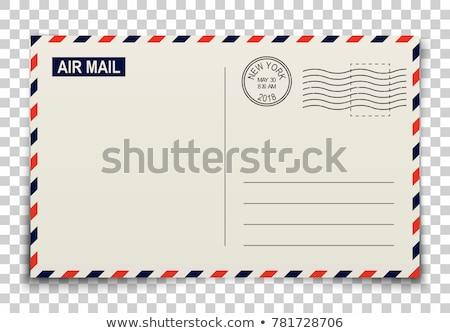 Сток-фото: старые · пост · конверт · рисованной · вектора · эскиз