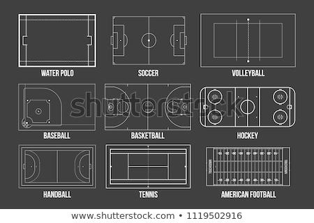 Boisko do koszykówki zielone Tablica tekstury projektu Zdjęcia stock © stevanovicigor