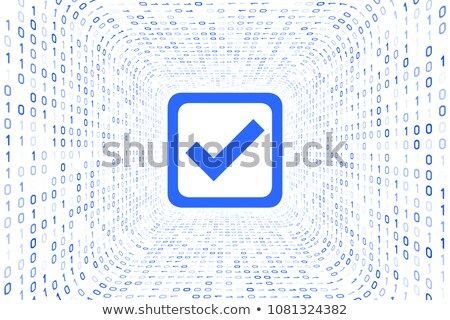 Blauw binair tunnel zwarte 3d render computer Stockfoto © Giashpee