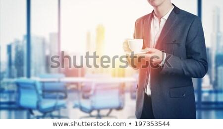 çekici yürütme beyaz kupa portre Stok fotoğraf © pablocalvog