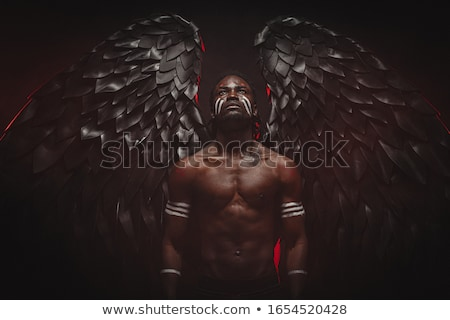 Young Handsome Man. Fantasy. Art. Black & White Portrait Stock photo © gromovataya