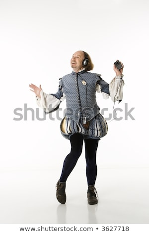 Shakespeare dancing with headphones. Stock photo © iofoto