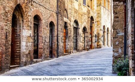 histórico · edificio · flores · Windows · entrada · de · coches · casa - foto stock © billperry