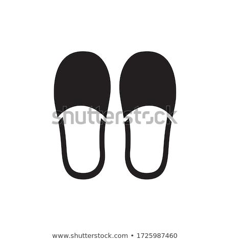 Icona pantofole vettore Foto d'archivio © zzve