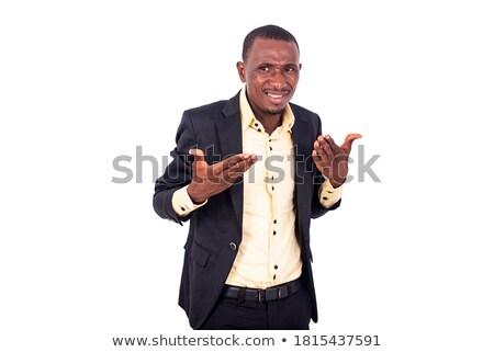 Grave imprenditore presentazione mani bianco suit Foto d'archivio © wavebreak_media