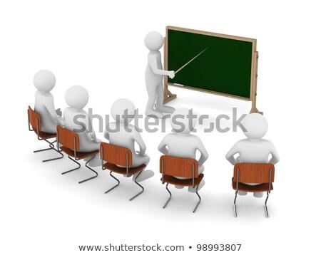 3d man enseignants étudiant étudier isolé blanche Photo stock © digitalgenetics