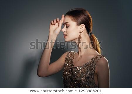 Bájos barna hajú nő zseniális test hölgy Stock fotó © konradbak
