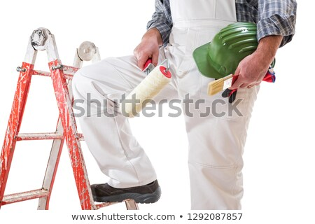 Painters with blue overalls and red-shirt Stock photo © photography33