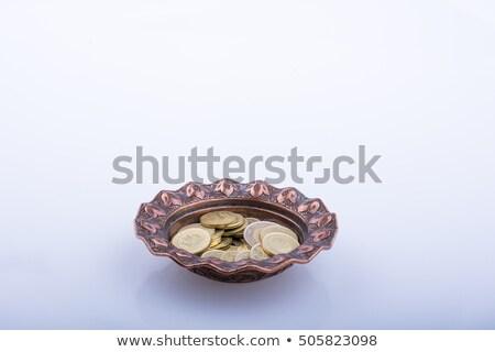 Gouden munt kom business geld metaal financieren Stockfoto © rioillustrator
