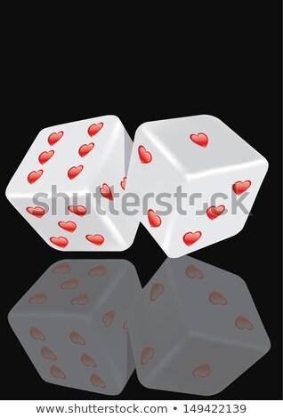Zarlar kalpler siyah eğlence beyaz oyun Stok fotoğraf © vladodelic