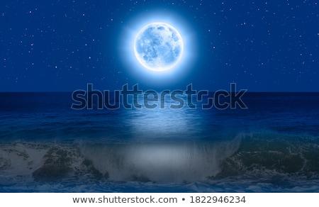 Full moon reflecting on ocean Stock photo © zzve