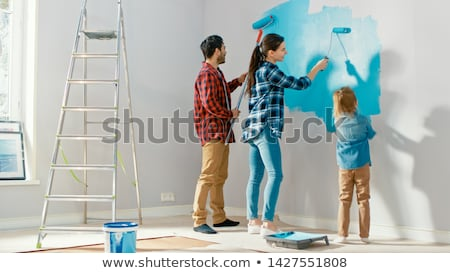 Father and daughter renovating home Stock photo © Lighthunter