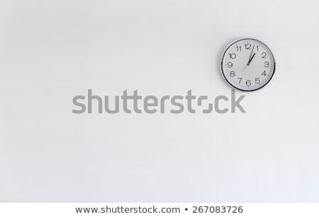 Oficina pared reloj ilustración global mano Foto stock © simas2