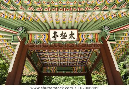 Tradicional palácio edifício pormenor Seul Foto stock © travelphotography
