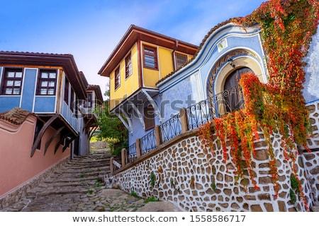 旧市街 · ブルガリア · 古い · 通り · 古代 · 町 - ストックフォト © tboyajiev