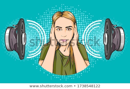Woman listening to loud music Stock photo © photography33