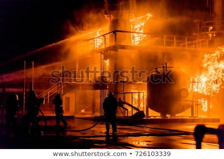 пожарная · машина · огнетушитель · автомобилей · безопасности · двигатель · безопасности - Сток-фото © pxhidalgo