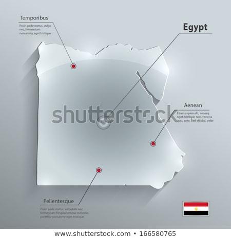 флаг · Египет · флагшток · 3d · визуализации · изолированный · белый - Сток-фото © kirill_m
