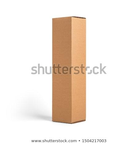 şarap kutu karton şişeler kâğıt Stok fotoğraf © artlens