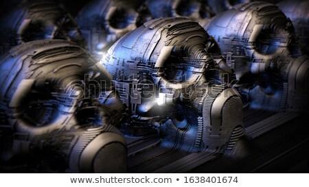 Natureza morta tornar cérebro humano preto corpo medicina Foto stock © Kirill_M