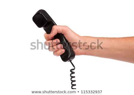Mano edad negro teléfono tubo Foto stock © bloodua