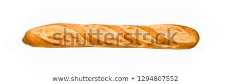 francés · baguette · aislado · blanco · trigo · desayuno - foto stock © karandaev