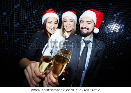 Zakenman champagne fluit business gezicht Stockfoto © photography33