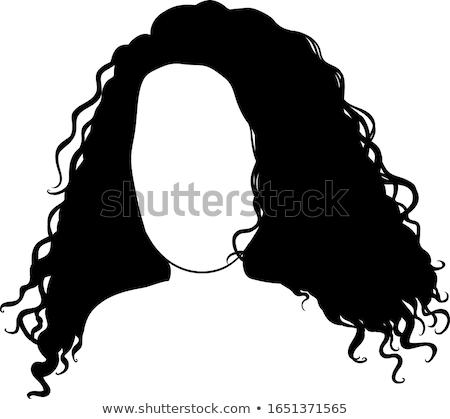 вьющиеся волосы силуэта женщину вектора лице красоту Сток-фото © artag
