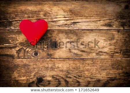 Bois rouge coeur rien symbole rustique Photo stock © justinb