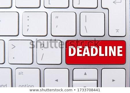 Vermelho teclado botão calendário cronômetro Foto stock © tashatuvango