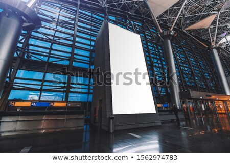 Entrance in big white passenger airliner Stock photo © michaklootwijk