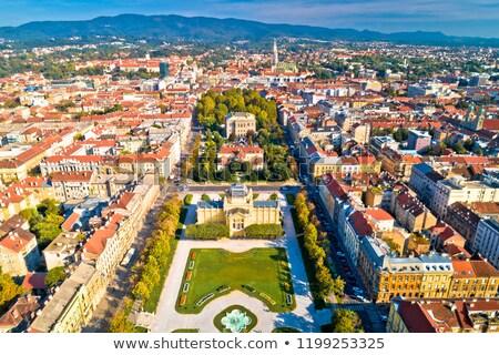 croatian zagreb aerial view stock photo © joyr