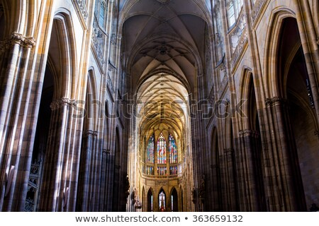 Interior of Saint Vitus Cathedral in Prague Stock photo © artush