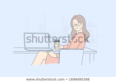 Businesswoman with cofee Stock photo © Voysla