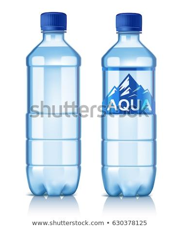 üdítő · vizes · flakon · címke · izolált · fehér · csepp - stock fotó © designsstock