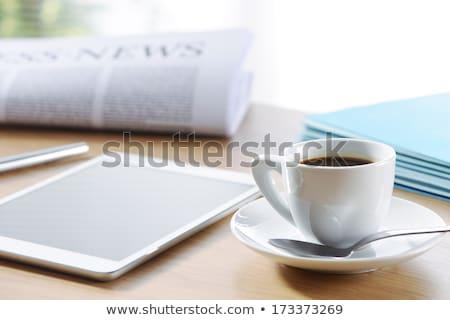 Journaux matin café bureau Photo stock © Tagore75