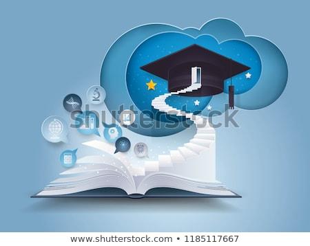 graduação · dia · livros · diploma - foto stock © idesign