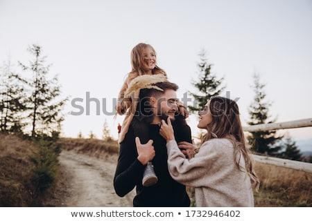 retrato · feliz · casal · copos · de · vinho · toalha · de · piquenique - foto stock © monkey_business