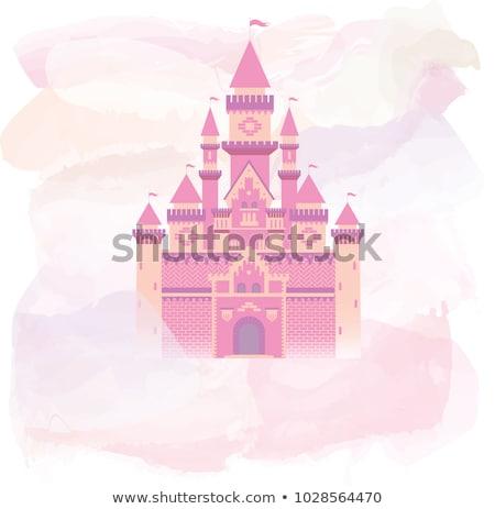 magic castle and princess with prince vector stock photo © carodi