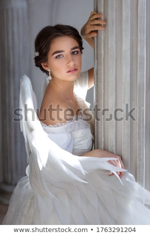 blanco · sentarse · amor · naturaleza · belleza - foto stock © nizhava1956