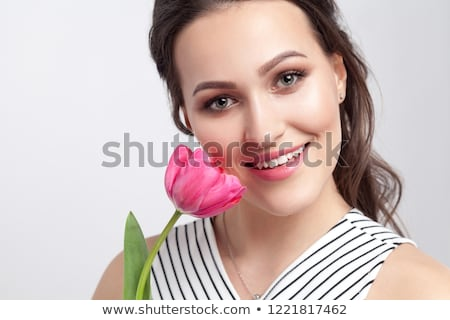 beautiful red tulips stock photo © digoarpi