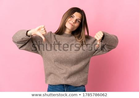 Thumb down gesture Stock photo © elwynn
