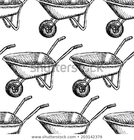 Sketch barrow, vector vintage seamless pattern Stock photo © kali