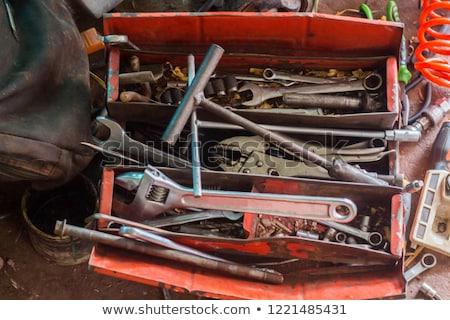 Vecchio arrugginito cacciavite rotto bianco strumenti Foto d'archivio © ajt
