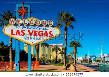 woestijn · billboard · midden · landschap · afgelegen · bergen - stockfoto © elnur
