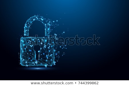 Vector safety concept illustration – padlock and key Stock photo © Mr_Vector