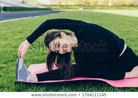 saludable · gimnasio · pelo · oscuro - foto stock © gromovataya